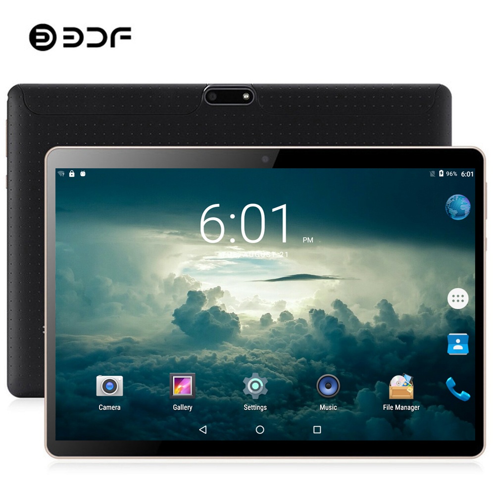 BDF 10 Inch Dual SIM 3G/4G LTE Phone Table Pc 8GB RAM 128GB ROM Android 9.0 Tab 10/Ten Core Bluetooth WiFi IPS Pc Tablet 10.1