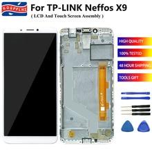 """TP 링크 TP 링크 Neffos X9 TP913A LCD 디스플레이 터치 스크린 센서 디지타이저 어셈블리 5.99 """"Neffos X9 전화 화면 프레임"""