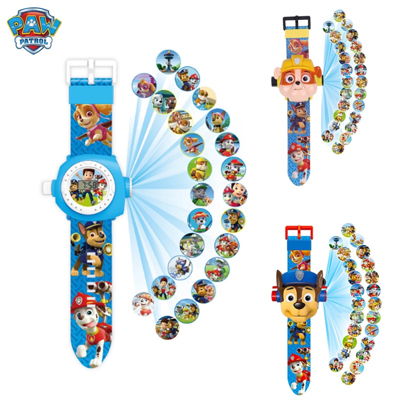 Paw Patrol Toys Set Projection Watch Marshall Ryder Action Figure Anime Figure Patrol Paw Patrulla Canina Christmas Gift Toy
