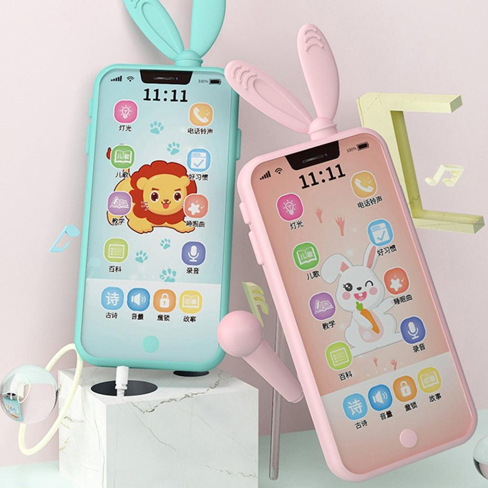 HOT Unisex Early Childhood Educational Smart Touch Screen Phone Baby Enlightenment Toy Simulation Multi-function Phone