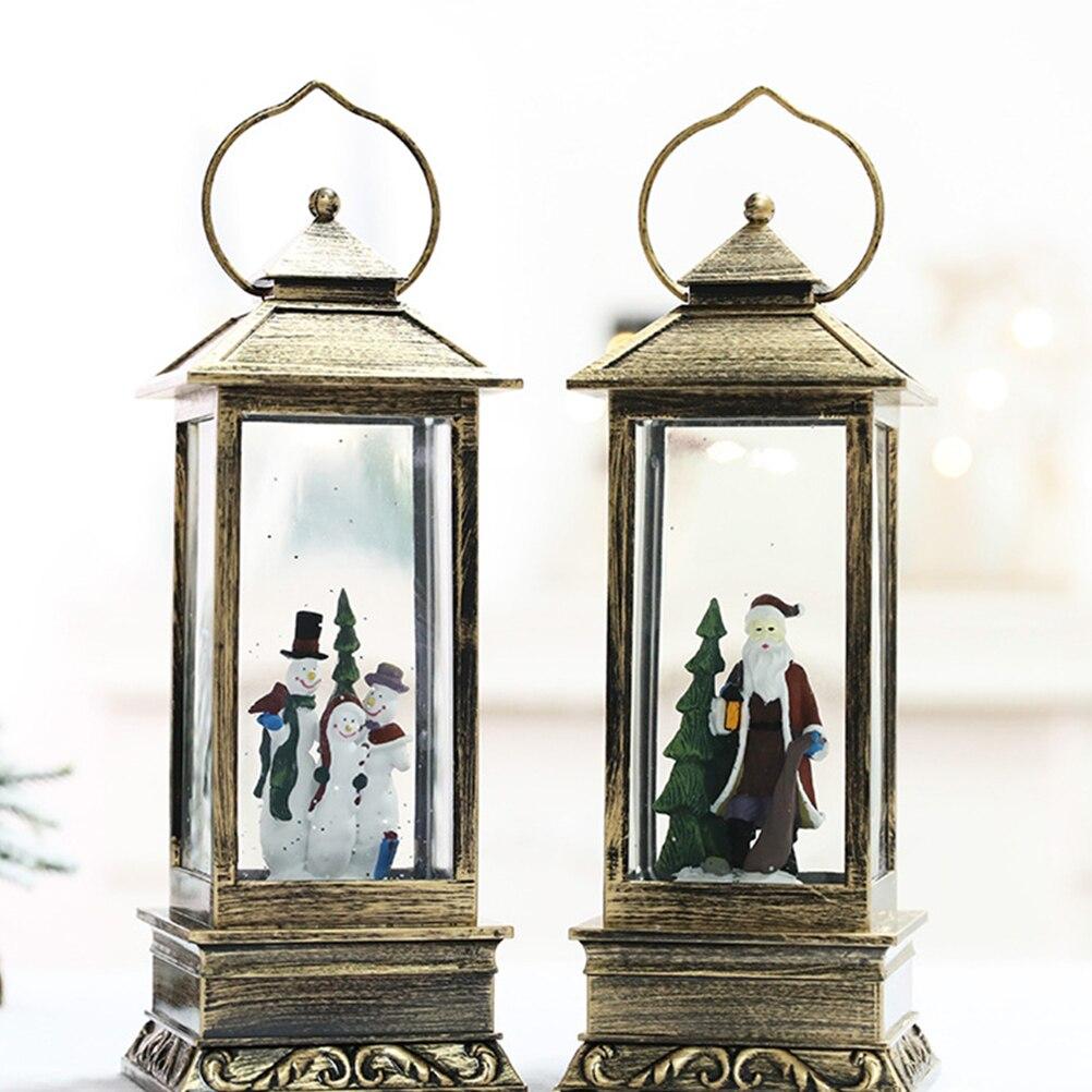 1 шт. подвесной фонарь светящийся стеклянный прямоугольный Рождественский светильник снег, фонарики для украшения фестиваля - 4