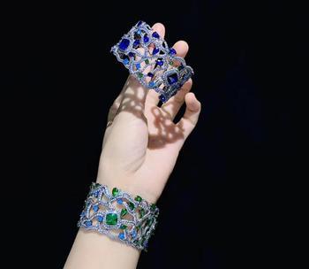 925 sterling silver with cubic zircon bangle bracelet fashion women jewelry for dress party   width 34MM cuff bracelet