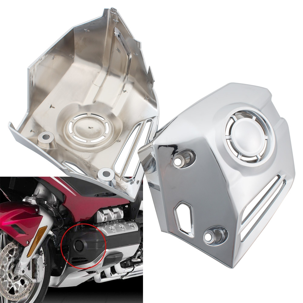 Pair Chrome Motorcycle Accessories Fog Light Trim Rings Case Decorative Cover for HONDA Goldwing GL1800 2018-2020