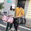New Waterproof PU Travel Bag Pink Hand Luggage Yoga Handbag for Shoes Dry Wet Duffle Bags Shoulder Bag Women Traveling Weekender