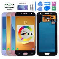 Super AMOLED LCD para Samsung Galaxy J5 2017 j530 J530F pantalla lcd de montaje de digitalizador con pantalla táctil LCD para J5 Pro 2017 J5 Duos