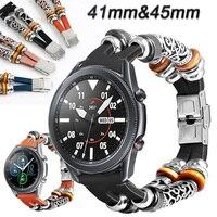 Voor Samsung Galaxy Horloge 3 45Mm 41Mm Riem Echt Leer 20Mm Horloge Band Retro Armband Horlogebanden Ремешок 22Mm Horloge Band