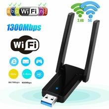 1300 Мбит/с Беспроводной usb wifi адаптер ключ dual band usb30
