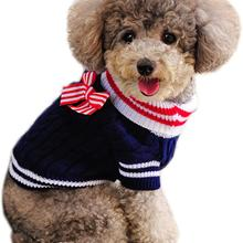 Dog-Sweater Jacket Sunny-Cable Ribbon-Style Hoodie Dogs Pet-Puppy-Winter Knit with Coat