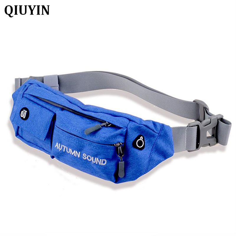 QIUYIN Brand Fashion Men Nylonr Waist Packs Men Organizer Travel Waist Pack Necessity Waist belt Mobile Phone Bag in Waist Packs from Luggage Bags