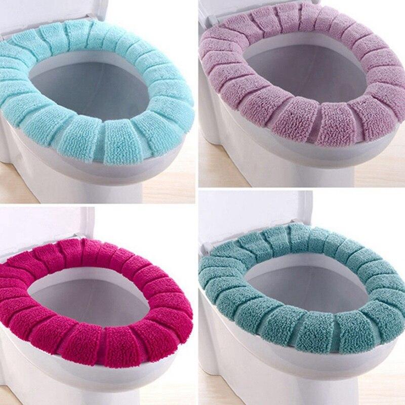 新しい冬の快適なソフト加熱された洗える便座マットセット浴室付属品インテリア家の装飾のため Closestool マット