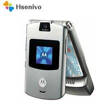 Motorola V3 reconditionné-téléphone portable d'origine débloqué, GSM, Quad Band, Razr V3, garantie d'un an, livraison gratuite