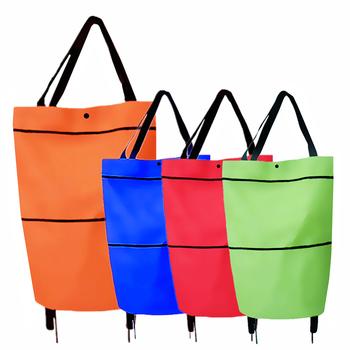 1pc składana torba na zakupy Pull koszyk torba na kółkach z kółkami wygodne torby na zakupy torby na zakupy wielokrotnego użytku torby na zakupy tanie i dobre opinie SFG HOUSE CN (pochodzenie) Oxford Oxford cloth WOMEN Stałe Bez suwaka YJ40154 Na co dzień Shopping Bag Pull Cart Trolley Bag with wheels