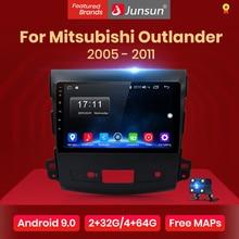 Junsun V1 2 дин магнитола андроид 8.1 навигатором For Mitsubishi Outlander xl 2007 2008 2011 Android 8.1 Штатное Головное устройство для Мицубиси Аутлендер 2 штатная магнитола автомобильная мультимедиа aвтомагнитола 40