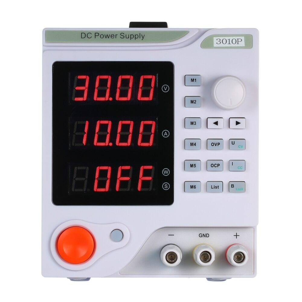 3010P nouvelle mise à niveau 4 chiffres affichage réglable DC alimentation 30V 10A régulateur de tension réparation reprise laboratoire alimentation