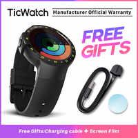 TicWatch S czarny smart watch Bluetooth Smartwatch z GPS Android i iOS kompatybilny Google Wear OS IP67 wodoodporna oryginalny