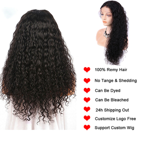 Image 4 - Wet and Wavy Wig 360 lace frontal wig pre plucked with baby hair Water Wave Lace Front Human Hair Wigs Curly Human Hair Wig 150%