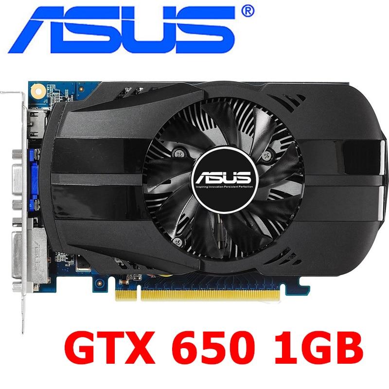ASUS Original GTX 650 1 ГБ видеокарта 128Bit GDDR5 видеокарты для nVIDIA Geforce GTX650 Hdmi Dvi VGA карты в продаже б/у