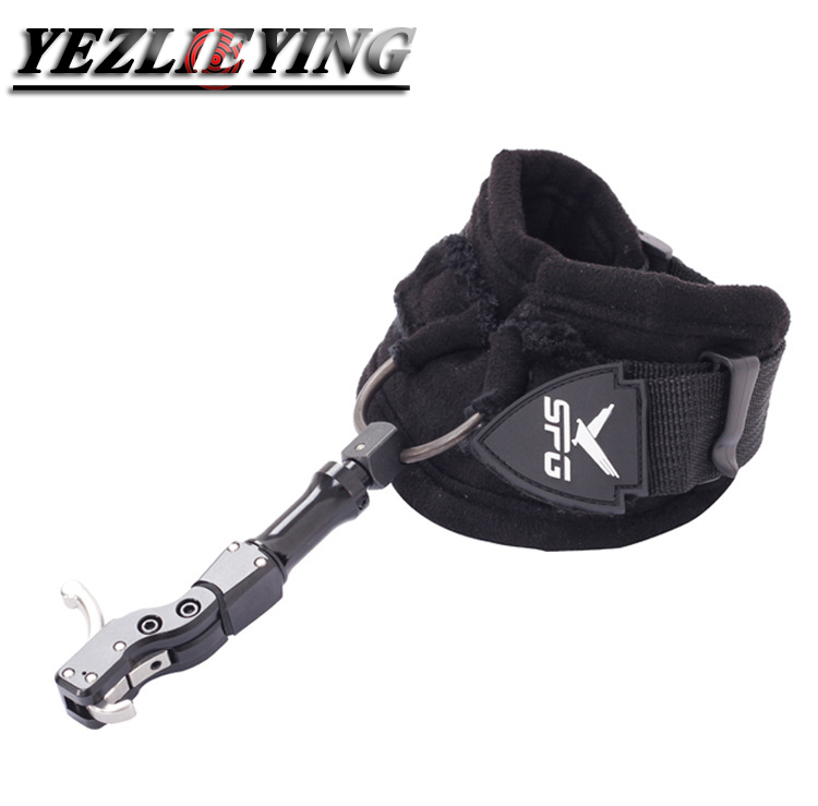 Elong Outdoor Black Color Archery Caliper Release Aid Compound Bow Strap Shooting Pro Arrow Trigger Wristband Archery Bow