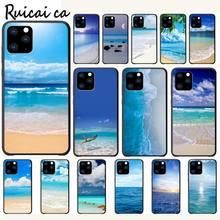 цена на Clear Sea Sky Sandy Beach Luxury Phone Case Funda For Iphone 5s Se 2020 6 6s 7 8 Plus X Xs Max Xr 11 Pro Max Cases Cover
