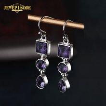 Женские винтажные серьги подвески jewepisode из серебра 925