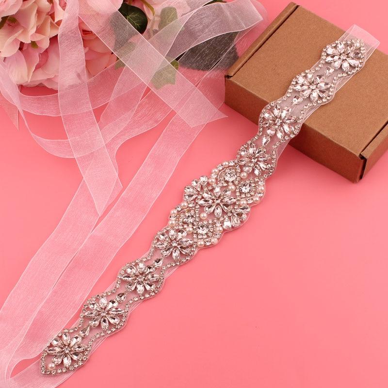 YJWSXF bridal belt ladies belt wedding dress belt rhinestone belt belt bridesmaid belt wedding accessories
