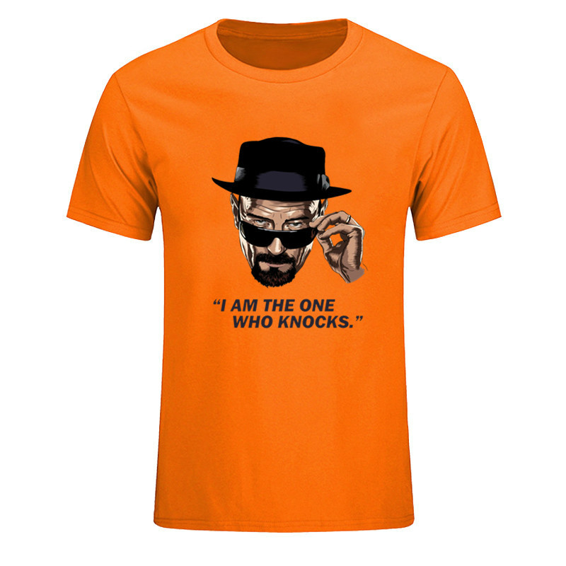 Heisenberg I am the one who knocks T shirt Men Women Casual Breaking Bad Walter White Cook Tshirt for male Cotton Unisex T-Shirt image