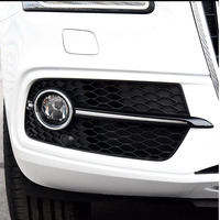 New Honeycomb ABS Fog lamp grille For Audi Q5 S Line SQ5 Sport 2013 2018 Front Bumper fog light Lowside Cover 8R0807681N 682N