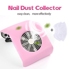30W Nail Dust Collector Suction Fan Vacuum Cleaner Manicure Machine Powerful Nail Vacuum Collector Nail Art Manicure Salon Tools arieslibra 40w nail art salon suction dust collector manicure filing acrylic uv gel tip machine cleaner salon manicure tools