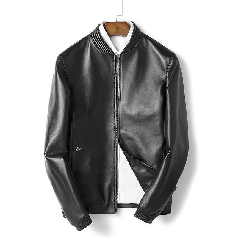 2020 New Genuine Leather Jacket Men Spring Autumn Real Sheepskin Coat Bomber Jacket Mens Clothing Chaqueta MG-02-B6212 KJ1947
