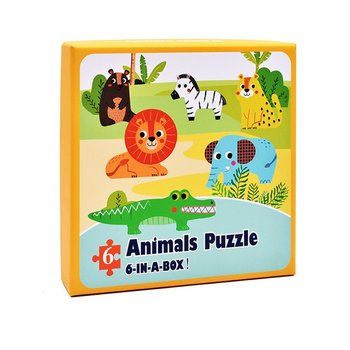 цена Wooden Puzzle Kids Toy Baby Wooden Jigsaw Puzzles Cartoon Dinosaur Animal Early Educational Toys for Children онлайн в 2017 году