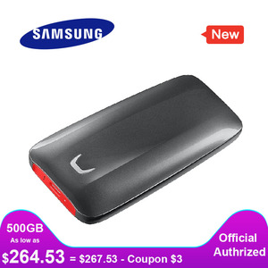 Image 1 - SAMSUNG External SSD X5 500GB 1TB 2TB Thunderbolt 3 NVMe for Desktop Laptop PC read speed Up to 2800 MB/sec