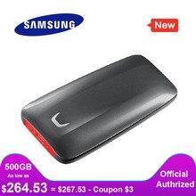 SAMSUNG SSDภายนอกX5 500GB 1TB 2TB Thunderbolt 3 NVMeสำหรับเดสก์ท็อปแล็ปท็อปพีซีอ่านความเร็ว 2800 MB/วินาที