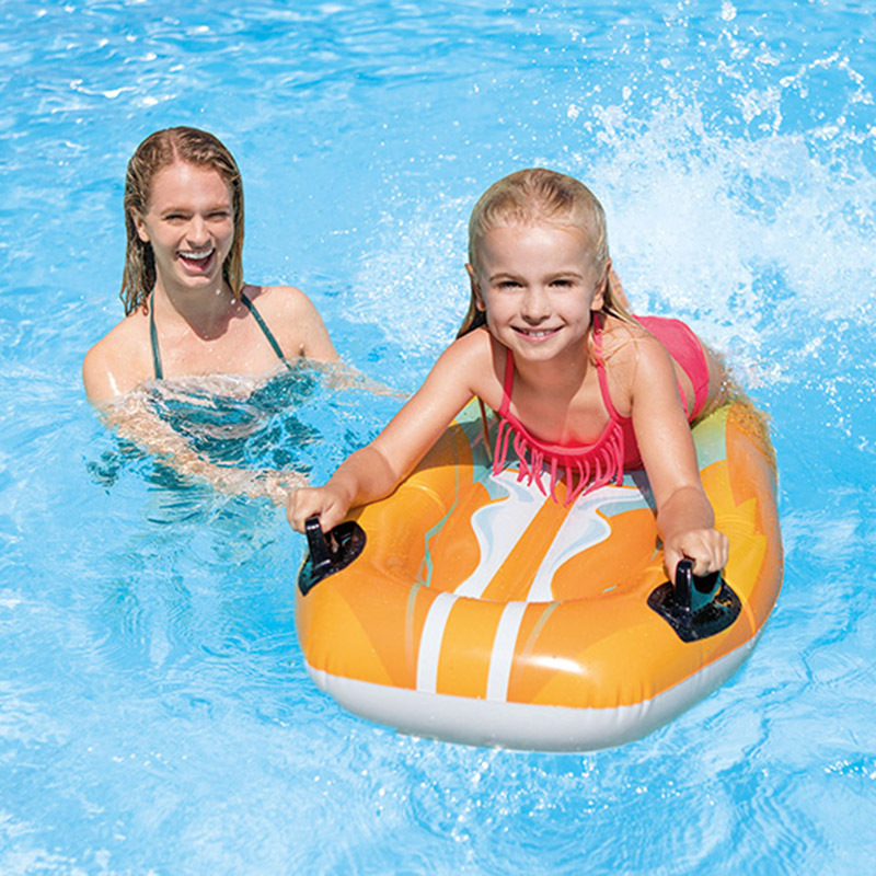 PVC Inflatable Water Surfboard Children Play With Water Flutter Board Factory A Large Amount Production Learn Swimming Swathe Ha