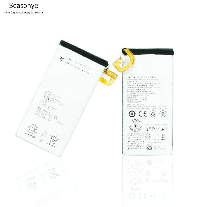 Seasonye 3360mAh / 12.87Wh BAT-60122-003 Phone Replacement Battery for blackberry priv Batteries Batterie Bateria Batterij(China)