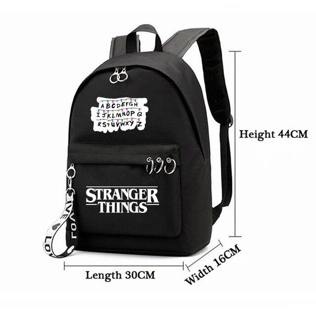 Фото рюкзаки imido «очень странные дела» для студентов черные и розовые