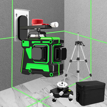 12 Lines 3D Green Laser Level Self-Leveling 360 Degrees
