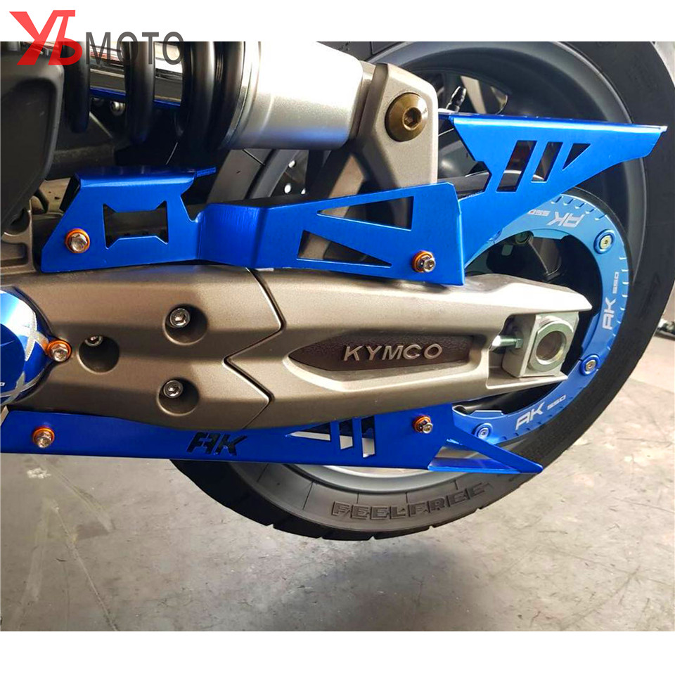 CNC Aluminium Motorcycle Accessories Chain Guard Chain Belt Cover Protector Gold Red Gold Blue for <font><b>KYMCO</b></font> AK550 <font><b>AK</b></font> <font><b>550</b></font> 2017-2020 image