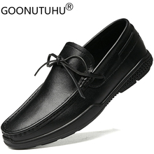 Genuine leather cow loafers male 2020 new fashion men's shoes casual white black slip on shoe male flats shoes for men hot sale new men genuine leather party dress shoes breathable fashion wedding casual male flats cow leather split loafers soft black