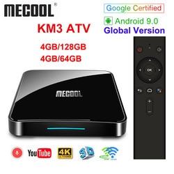 Androidtv 9,0 certificado por Google MECOOL KM9 PRO 4 GB 32 GB Android 9,0 TV Box Amlogic S905X2 4 K de voz 2,4G 5G Dual Wifi BT4.0 KM9ATV