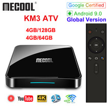 Google Certified MECOOL KM3 ATV Androidtv 9.0 4GB 64GB 32GB KM9 PRO Android 9.0 TV
