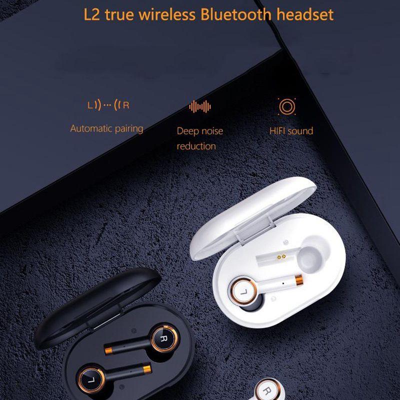 Auriculares TWS L2, inalámbricos por bluetooth, Auriculares deportivos impermeables de negocios para música, auriculares Mini para Xiaomi y iPhone Orejera electrónica táctica caliente para disparar deportes al aire libre, auriculares antiruido, auriculares de protección auditiva de amplificación de sonido de impacto