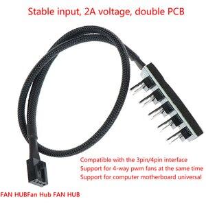 1 kobieta do 5 mężczyzna 4Pin gniazdo wentylator Hub Splitter kabel PC Cooler wentylator kabel zasilający dla 3Pin i 4Pin PWM wentylator chłodzący