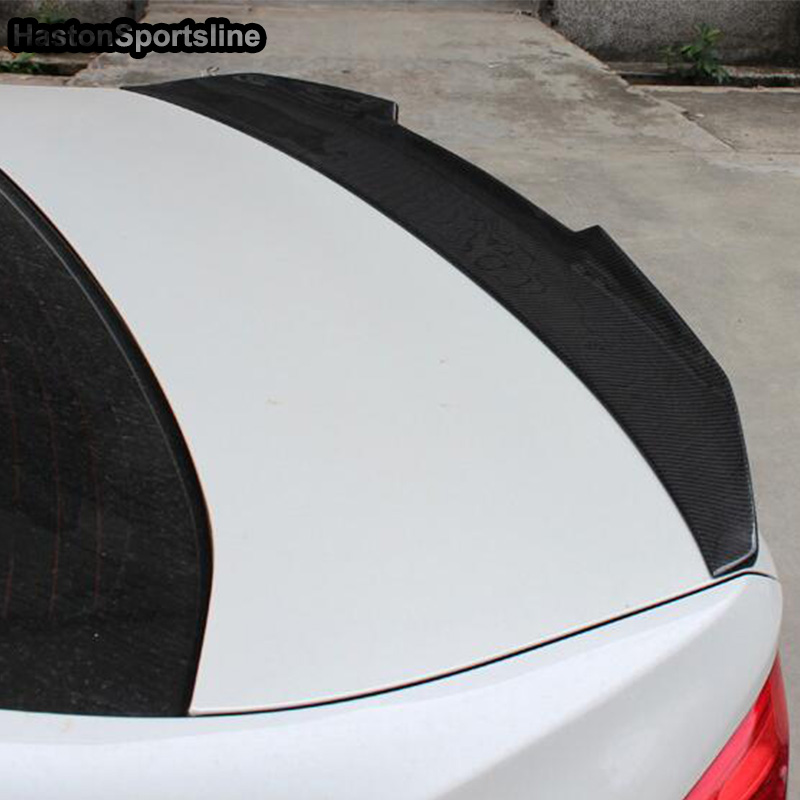 Image 4 - F36 Grand Coupe 4Door PSM Style Carbon Fiber Auto Car Rear Trunk Spoiler Wing for BMW F36 2014 2017trunk spoiler wingspoiler wingtrunk spoiler -