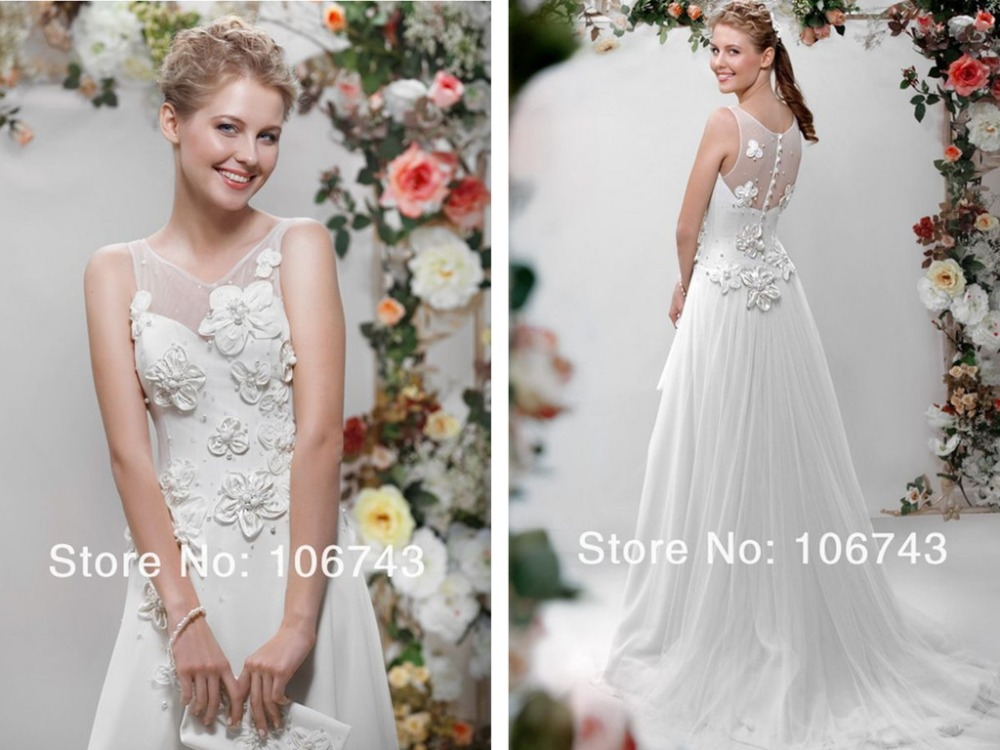 Vestido De Noiva Casamento 2018 New Style High Quality Cheap Flowers Pearls Beading A-line Bridal Gown Mother Of The Bride Dress