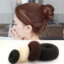 Аксессуары для волос пончики, 3 размера, кольцо для укладки волос, Диспенсер, булочки для волос, головное кольцо, повязка для волос, устройств...