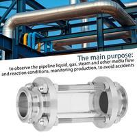 1 個工業用パイプ流量サニタリーサイトグラスステンレス鋼 304 フローサニタリーサイトグラストライクランプタイプ 38 -