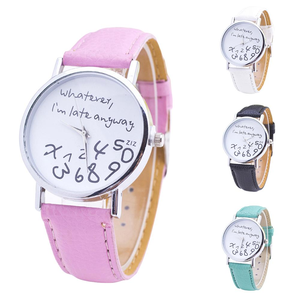 Retro Simple Women Watches Laides Casual Quartz Wrist Watch Multicolor Leather Band New Strap Watch Female Clock Reloj Mujer Wri