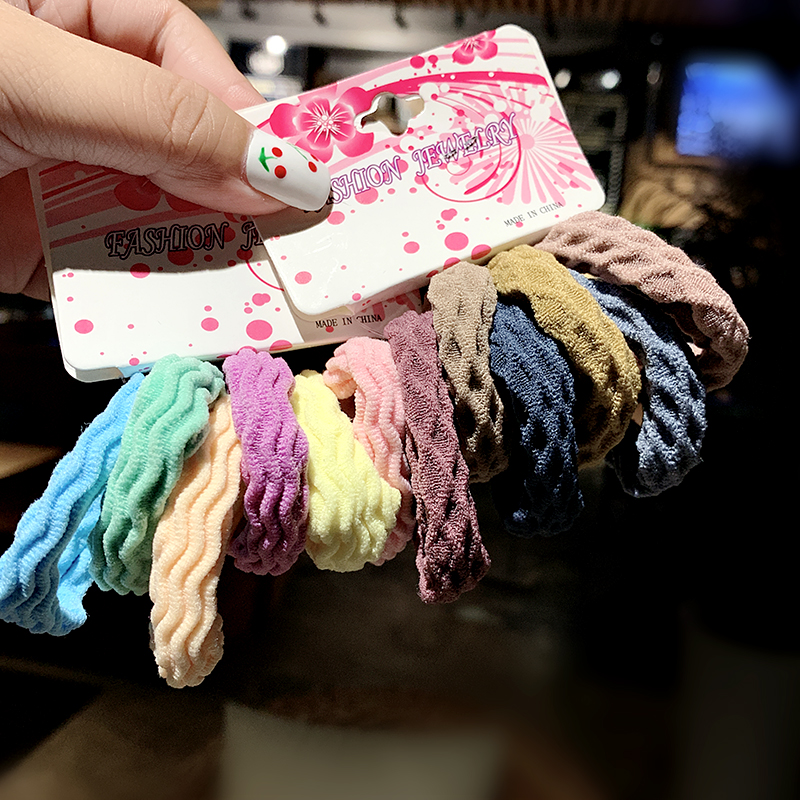 6PCS/Set New Girls Sweet Basic Crude Elastic Hair Band Headband Ponytail Holder Rubber Bands Scrunchies Fashion Hair Accessories