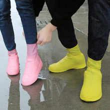 1 Paar Herbruikbare Latex Waterdichte Regen Schoenen Covers Antislip Rubber Rain Boot Overschoenen Outdoor Wandelschoenen Accessoires