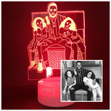 Светодиодный Ночной светильник будильник подгонянный семейный